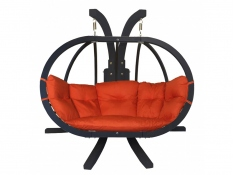 Zestaw: stojak Sintra Antracyt + fotel Swing Chair Double Antracyt (10)
