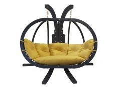 Zestaw: stojak Sintra Antracyt + fotel Swing Chair Double antracyt (11), Sintra + Swing Chair Double (11)