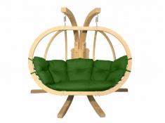 Zestaw: stojak Sintra + fotel Swing Chair Double (3), Sintra + Swing Chair Double (3) - zielony(3)