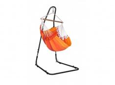Zestaw hamakowy: fotel hamakowy Orquidea ze stojakiem Mediterraneo, ORC14MEA12 - pomarańczowy(2)