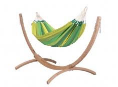 Zestaw hamakowy: hamak Orquidea ze stojakiem Canoa, ORH14CNS121 - Zielony(4)