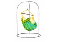 Zestaw hamakowy: fotel hamakowy Sonrisa ze stojakiem Romano, SNC14ROA16 - zielono-żółty(4)