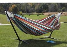 Hamak Sunbrella + stojak metalowy 9f, C9SUN - Kolorowy(C)