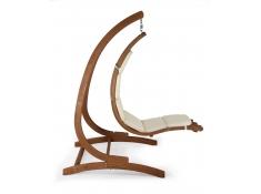 Drewniany leżak wiszący Wave-E + stojak Optimist, Zestaw: Wave-E+ Optimist - ecru(1)